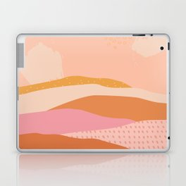 Pink Abstract Mountains - Landscape Laptop & iPad Skin
