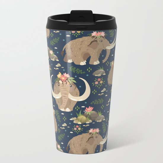 Cute mammoths Metal Travel Mug