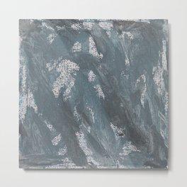 Blue Chalk and Black Ink Metal Print