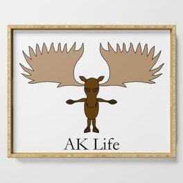 AK Life Moose Serving Tray