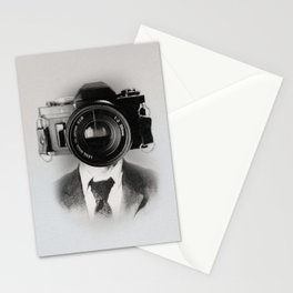 Faces of the Past: Camera _no stripes Stationery Cards