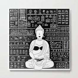 Enigmatic as Buddha with no eyes drawn. Metal Print