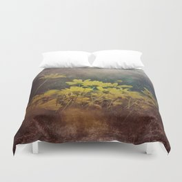 Abstract Yellow Daisies Duvet Cover