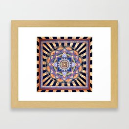 Radiant Light Beams Framed Art Print