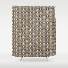 Gray beige geometry. Shower Curtain