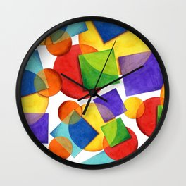Candy Rainbow Geometric Wall Clock