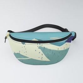 Threepoint Mountain Canada travel poster. Fanny Pack