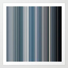 Scanline   Ocean 100 Art Print