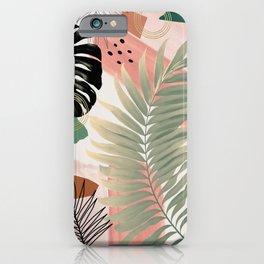 Palm Leaf Summer Glam #1 #tropical #decor #art #society6 iPhone Case
