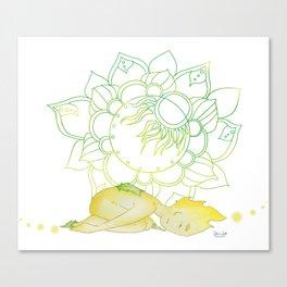 Pose yoga rock - Small Ray of Sunshine Canvas Print