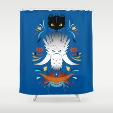 Trained Dragons Shower Curtain