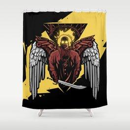 Apocaliptic Angel Shower Curtain