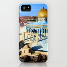 Dome of the rock-JERUSALEM iPhone Case