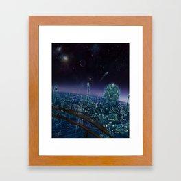 Living On Antaries - Vertical Cityscape Framed Art Print