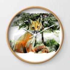 P.E.I. Red Fox Wall Clock