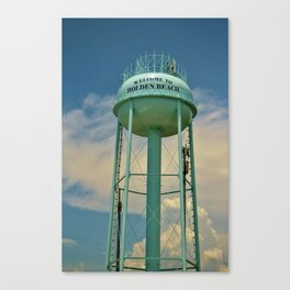 Tower And Clouds Canvas Print