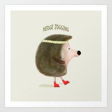 hedge jogging Art Print
