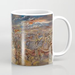 The Fall of Tenochtitlan, the capital of the Aztec Empire landscape by A. Cantu Coffee Mug