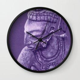 mayan nobleman violet Wall Clock