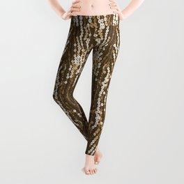 198 - Sepia gold sequins design Leggings