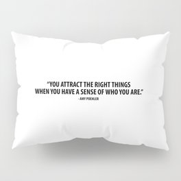 You attract the right things when you have a sense of who you are. - Amy Poehler Pillow Sham