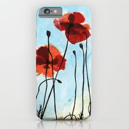 Paper Poppies iPhone Case