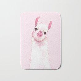Llama Pink Bath Mat