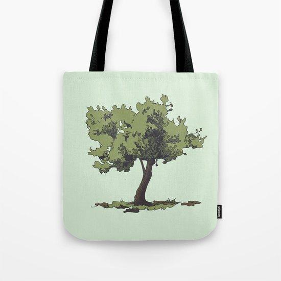 Life is Beautiful Olive Tree Tote Bag