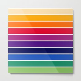 70s Stripes - rainbow stripe, rainbow, retro, vhs, seventies, retro stripes, seventies stripes Metal Print