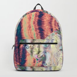 Copper Pastel Menagerie Fractal Abstract Backpack