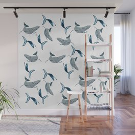 Whales Pattern Wall Mural