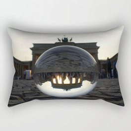 Brandenburg Gate, Berlin Germany / Glass Ball Photography Rectangular Pillow