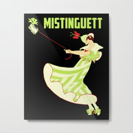 Mistinguett and her fluffy dog Metal Print