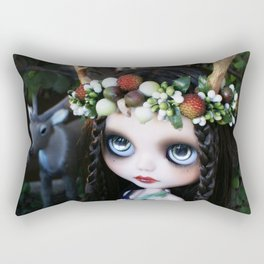 ISOBEL FAWN (Ooak BLYTHE Doll) Rectangular Pillow