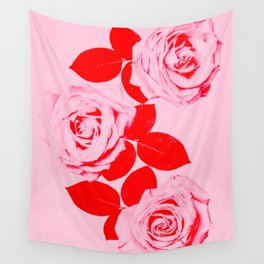 Pretty In Pink (Red) Wall Tapestry