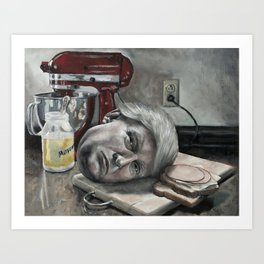 Still Life with Donald Trump and Sandwich Fixings Art Print