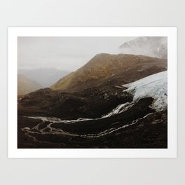 Glacier Run Off, Crow Pass AK Art Print