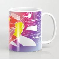 tony stark Mugs featuring God Yes! says Tony Stark by Hoboxia