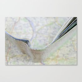 Let's go somewhere Canvas Print