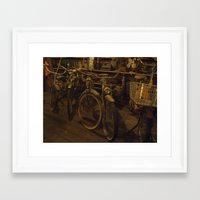 bicycles Framed Art Prints featuring Bicycles by Gurevich Fine Art
