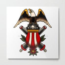 American Traditional Artillery Design Metal Print