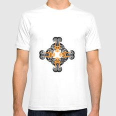 PATTERN 3 White Mens Fitted Tee MEDIUM
