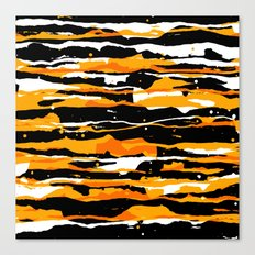 black and orange 02 Canvas Print