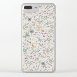 Country Flowers - Peach Blossom Clear iPhone Case