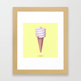CFL Soft Serve Framed Art Print