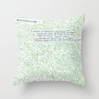 minimalism Throw Pillows featuring Minimalism by Katie Kephart