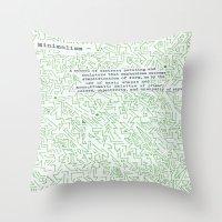 minimalism Throw Pillows featuring Minimalism by Katie Kephart