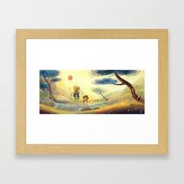 Kappa et l'enfant Framed Art Print