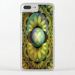 The Enchanted Feathers of the Golden Snitch Clear iPhone Case