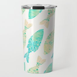 Indonesian Fish Duo – Turquoise & Cream Palette Travel Mug